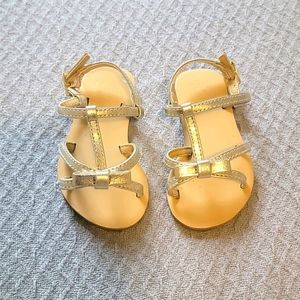 Janie and Jack Metalic Bow Sandals
